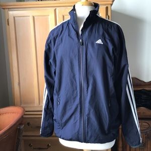 🐬 3/$25 VTG ADIDAS NAVY TRACK JACKET / WINDBRE…